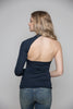 One Shoulder Top in Dark Blue