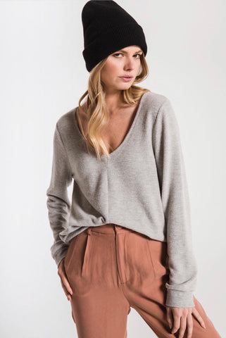 Soft Spun Strap Heather Pullover