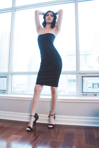 Simply Classic Black Tube Dress
