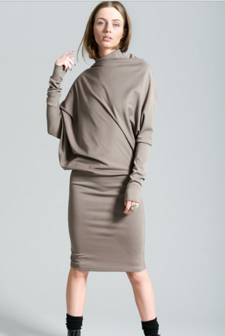 Long Sleeve Dress in Slate