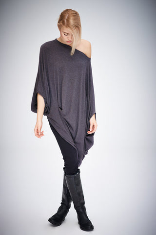 Twisted Brown-Grey Tunic
