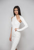 Elegant One Shoulder Dress in Off White