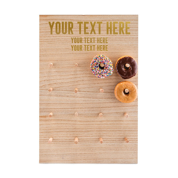 Personalized Wooden Donut Display