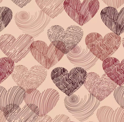 Hearts Backdrop (Material: Microfiber)
