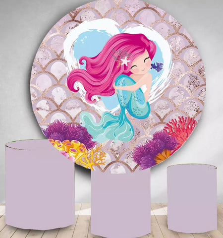 Mermaid Rounded Backdrop (Material: Polyester)