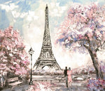 Eiffel Tower Backdrop (Material: Microfiber)