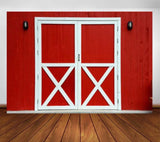 Red Door Backdrop