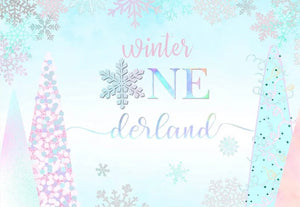 Winter ONEderland in Pastel Backdrop (Material: Vinyl)