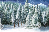 Winter Trees Backdrop (Material: Microfiber)
