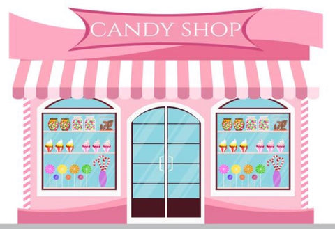 Candy Shop in Pink Backdrop (Material: Microfiber)