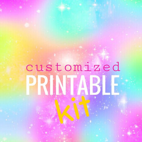 Customized Printable Kit