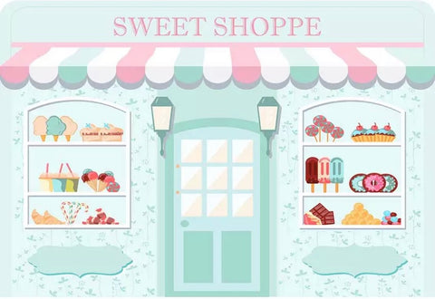 Sweet Shop in Pastel Backdrop (Material: Vinyl)