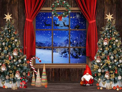 Christmas in Blue Backdrop (Material: Microfiber)
