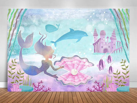 Under the sea pastel - Mermaid Backdrop