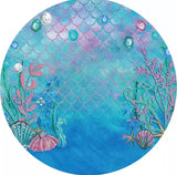 Ocean Rounded Backdrop (Material: Polyester)