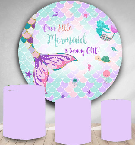 Pastel Mermaid Rounded Backdrop (Material: Polyester)