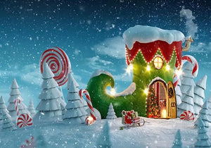 Christmasland Backdrop (Material: Vinyl)