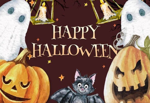 Halloween Friends Backdrop (Material: Vinyl)