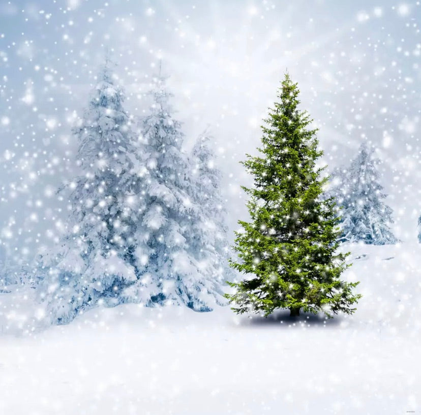 Snowing Backdrop (Material: Microfiber)