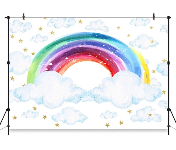 Rainbow Backdrop (Material: Vinyl)