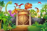 Dinosaur Cartoon Backdrop