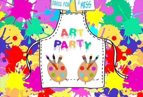 Art Party Backdrop (Material: Vinyl)