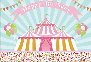 Circus in Pink Backdrop (Material: Vinyl)