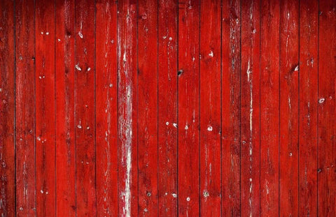 Shabby Red Wooden Backdrop