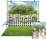 Spring Fence (7.21ft x 4.92ft / 220x150cm / 86.61in x 59.05in )