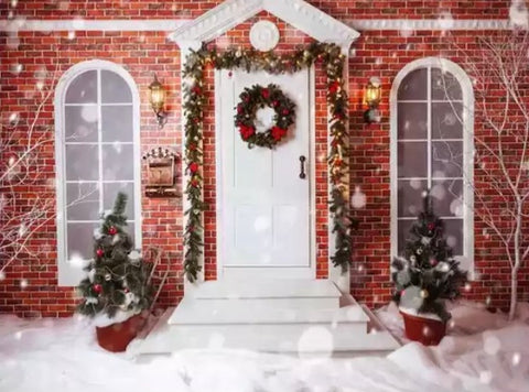 Christmas Entrance Backdrop