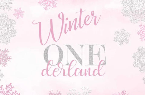 Winter ONEderland in Pink Backdrop (Material: Vinyl)