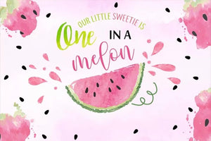 Watermelon in Pink Backdrop