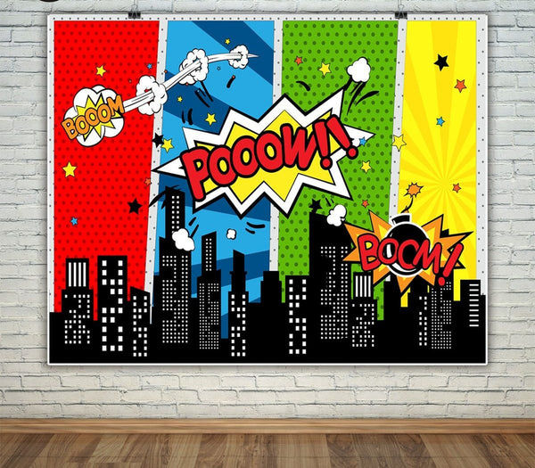 Super Hero Backdrop