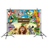 Jungle Cartoon Backdrop