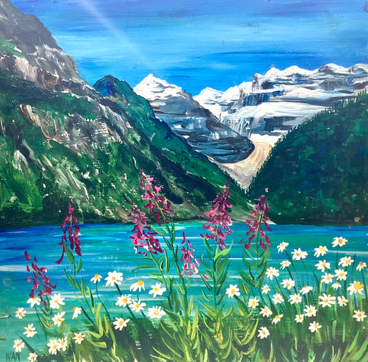 Lake Louise and Fire Weed