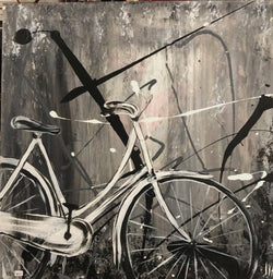 Bike on Grey - Abstract
