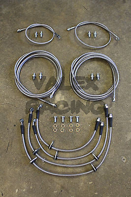 Complete Front & Rear Brake Line Replacement Kit 94-01 Acura Integra DC2