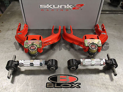 Skunk2 Pro Series Front / Blox Rear Camber Kit Combo 90-93 Acura Integra DA