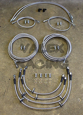 Complete Front & Rear Brake Line Replacement Kit 94-01 Acura Integra DC2 W/O ABS