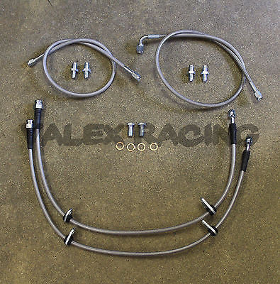 Complete Stainless Front Brake Line Replacement Kit 94-01 Acura Integra DC2