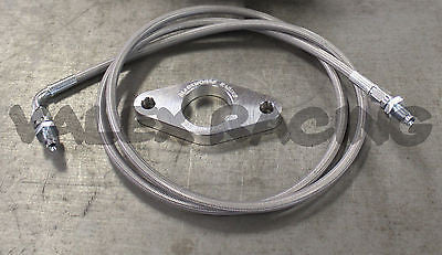 S2000 S2K CMC CLUTCH MASTER CYLINDER ADAPTER PLATE & SILVER SS CLUTCH LINE