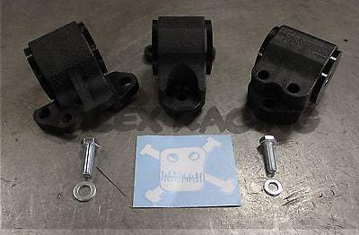 Hasport Engine Motor Mounts 94-01 Acura Integra DCSTK Black Wrinkle