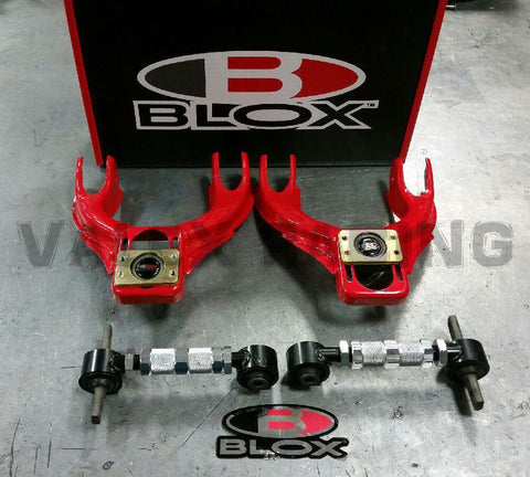 Blox RED Competition Front & Rear Camber Kit Combo 92-95 Civic 94-01 Integra