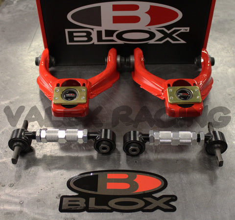 Blox RED Competition Front & Rear Camber Kit Combo HONDA CIVIC 96-00 EK