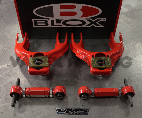 Blox RED Competition Front & VMS Rear Camber Kit Combo 92-95 Civic 94-01 Integra