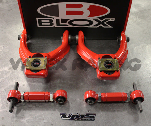 Blox RED Competition Front & VMS Rear Camber Kit Combo HONDA CIVIC 96-00 EK
