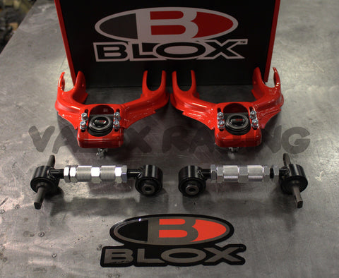 Blox RED Front & Rear Camber Kit Combo 92-95 Civic 94-01 Integra EG DC2