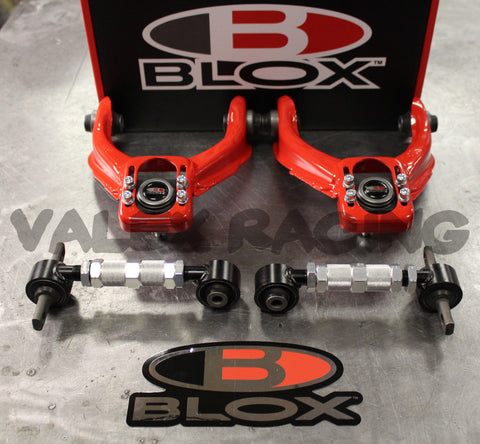 Blox RED Front & Rear Camber Kit Combo HONDA CIVIC 96-00 EK