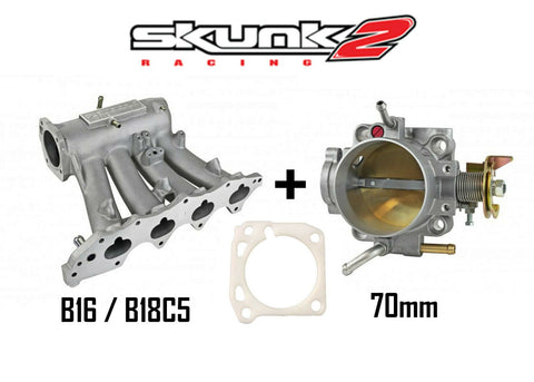 Skunk2 Pro Intake Manifold Alpha 70mm Throttle Body Honda Acura B16 B17 B18C5