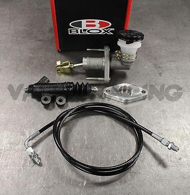 BLOX Competition QR Clutch Master Cylinder (CMC) & Exedy Slave Cylinder Kit  with Stainless Steel Clutch Line